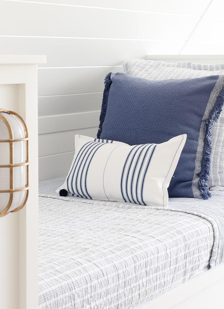 lake home bunk room bedding