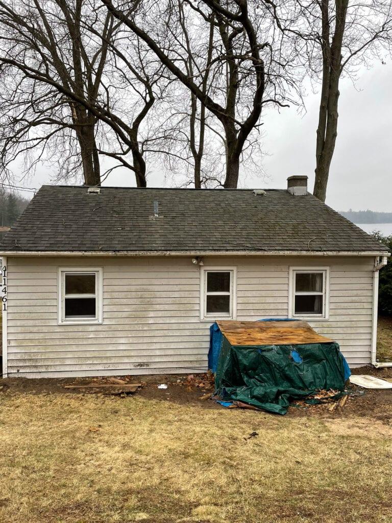 white house siding remodel
