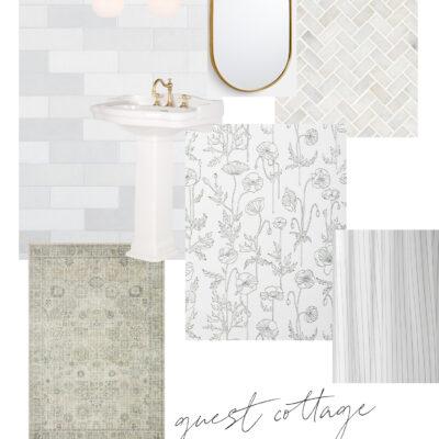 Guest Cottage Bathroom Design Board